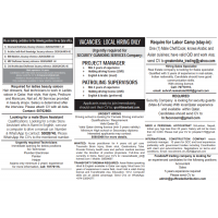 17/11/2020 Gulf Times Newspaper jobs in Qatar