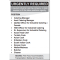 URGENTLY REQUIRED A reputed industrial catering company in Qatar requires to fill the below positions urgently: